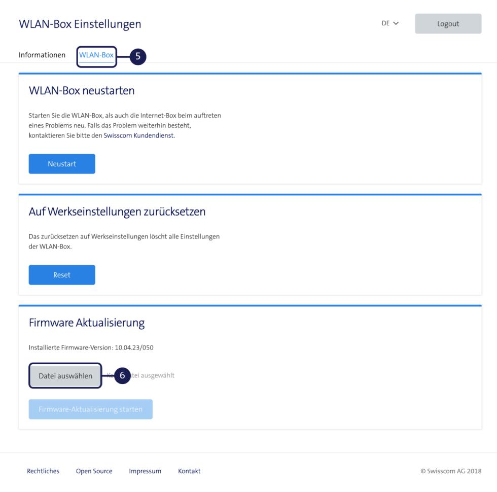 Firmware Aktualisierung - WLAN-Box