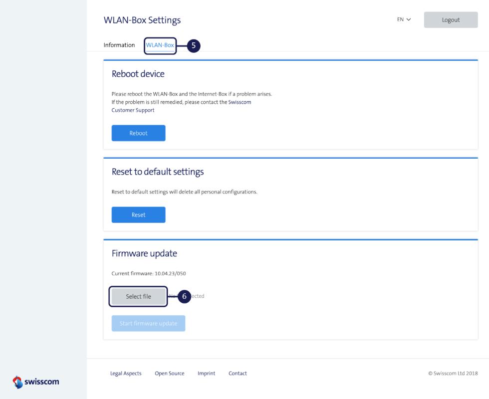 Updating firmware - WLAN-Box