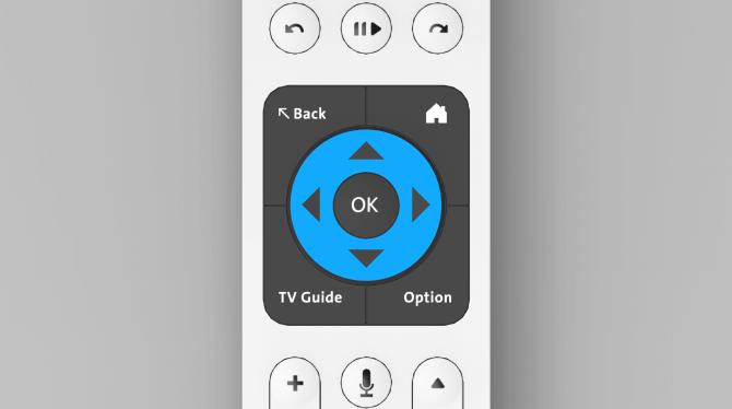 Swisscom blue TV télécommande touche «navigation»