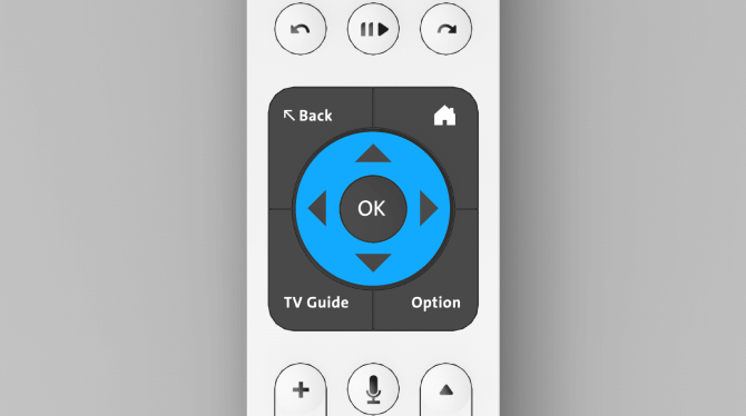 "Swisscom blue TV remote control button ""navigation"""