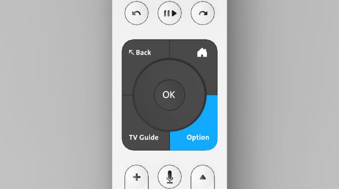 """Swisscom blue TV remote control button """"option"""""""