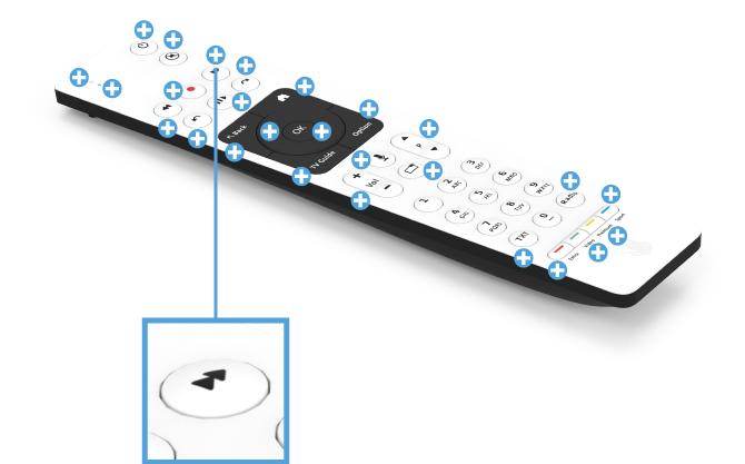 Swisscom blue TV Fernbedienung mit Sprachsteuerung (UHD) - Vor- und Zurückspulen