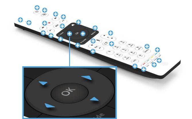 Swisscom blue TV Fernbedienung mit Sprachsteuerung (UHD) - Navigationstasten