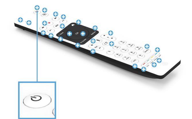 Swisscom blue TV Fernbedienung mit Sprachsteuerung (UHD) - Power