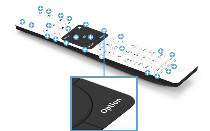 Swisscom blue TV Fernbedienung mit Sprachsteuerung (UHD) - Optionen