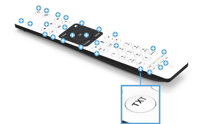 Swisscom blue TV Fernbedienung mit Sprachsteuerung (UHD) - TXT