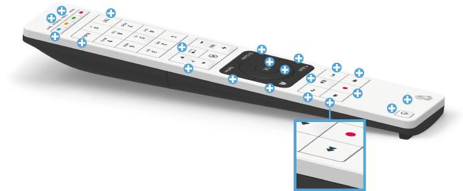 Swisscom blue TV Fernbedienung - Vor- und Zurückspulen