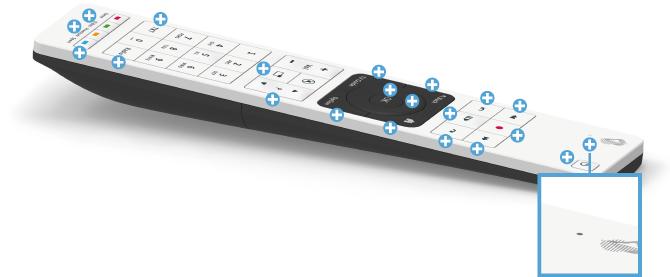 Swisscom blue TV Fernbedienung - LED-Lämpchen