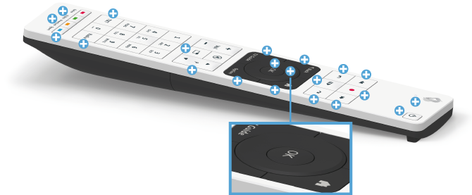 Swisscom blue TV Fernbedienung - Navigationstasten