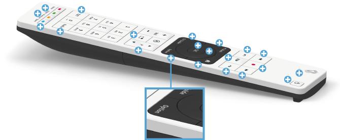 Swisscom blue TV Fernbedienung - Optionen