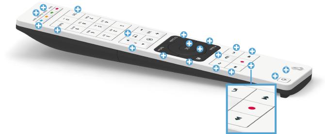 Swisscom blue TV Fernbedienung - Aufnahme-Taste