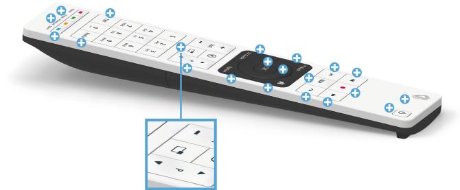Swisscom blue TV Fernbedienung - zuletzt geschaut / genutzt