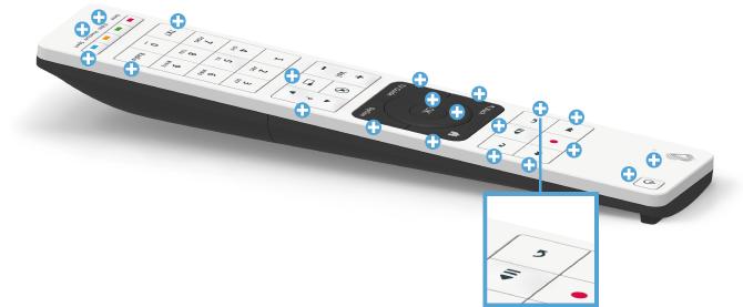 Swisscom blue TV Fernbedienung - Zurückspringen