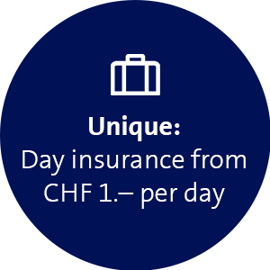 Day unsurance from CHF 1.- per day