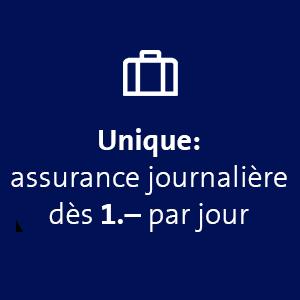 Assurance journalière dès 1.- par jour