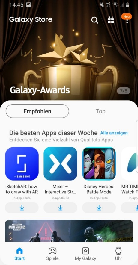 Swisscom Pay: Galaxy Store