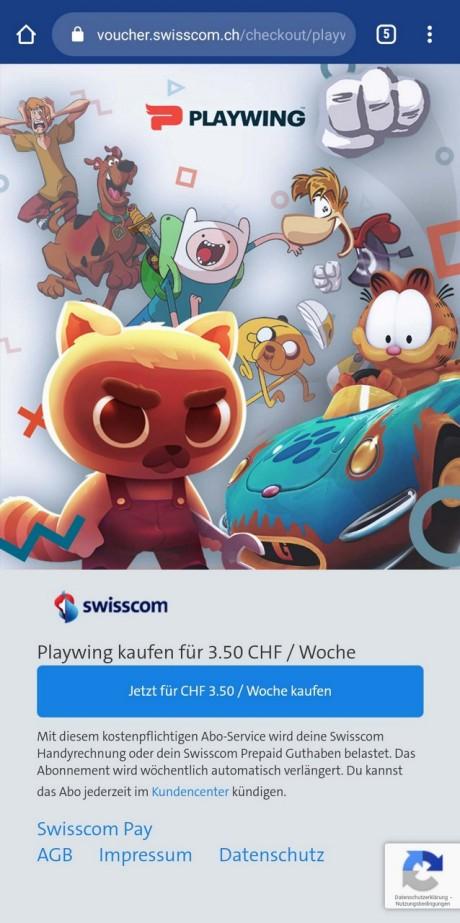 Swisscom Pay: Playwing