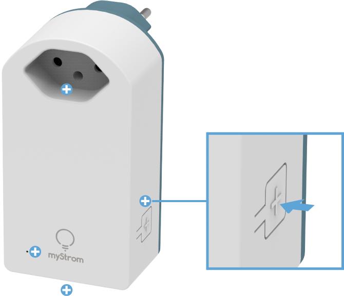 Swisscom Powerline 2000 Connection Kit - WLAN Steckdose - Pairing / Verbindungstaste