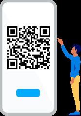 Handy mit QR Code