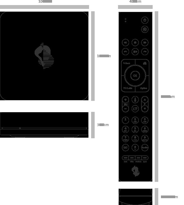 Swisscom TV Fernbedienung - technische Daten