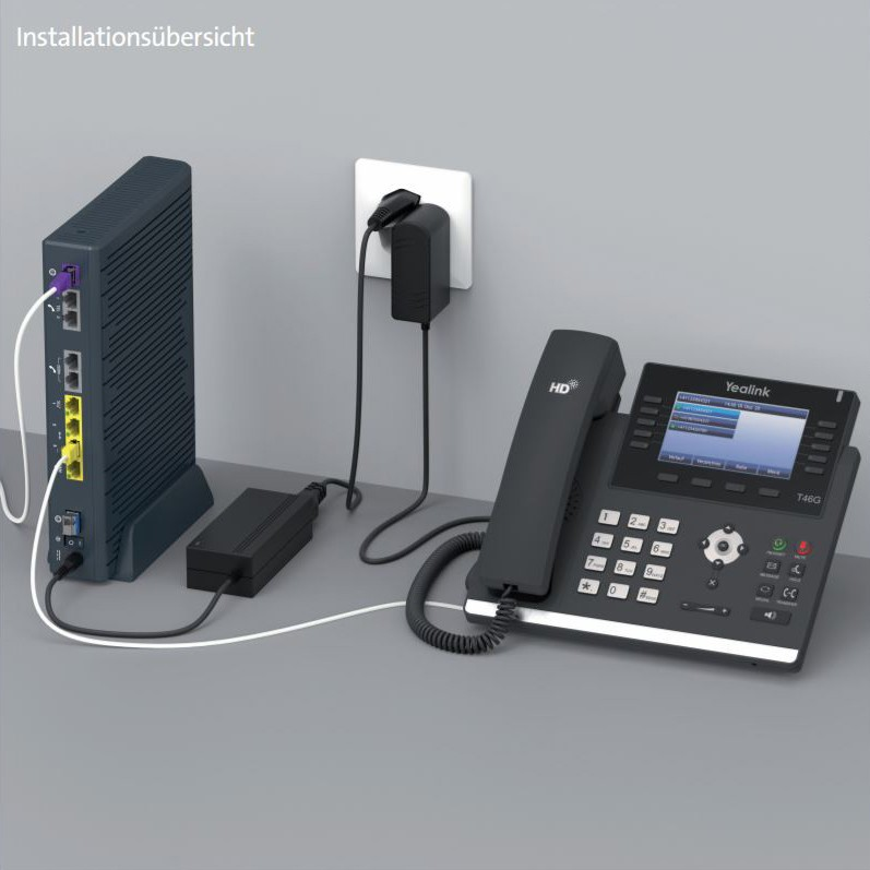 Swisscom HD-Phone Yealink T45G (Festnetztelefon) - Einrichten
