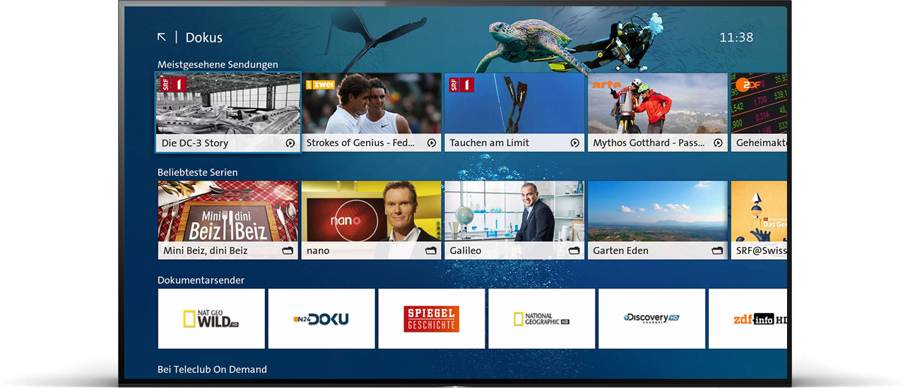 Digital TV: Swisscom TV mit Entertainment OS3