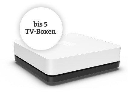 Bis zu 5 TV-Boxen