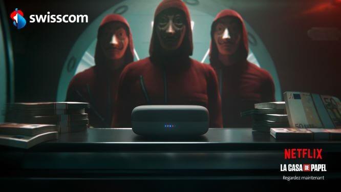 Swisscom et Netflix La Casa de Papel