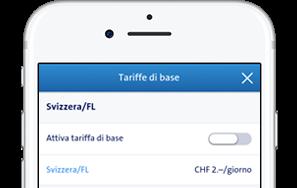 Potete trovare le impostazioni della tariffa base nel Swisscom Cockpit sotto Menu > Tariffa base